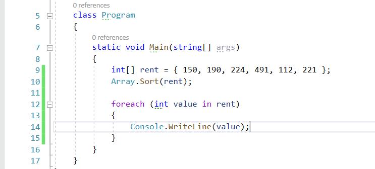 Tablice w języku C#